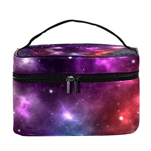 Grand sac de maquillage avec fermeture éclair - Motif galaxie et nébuleuse - Pour femme et fille, Lumineux Space Galaxie Nebula Starry, 22.5x15x13.8 cm/8.9x5.9x5.4 inch,