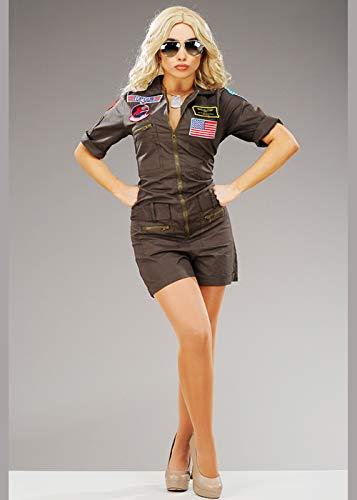 Magic Box Disfraz de piloto de Caza Top Gun Deluxe para Mujer ...