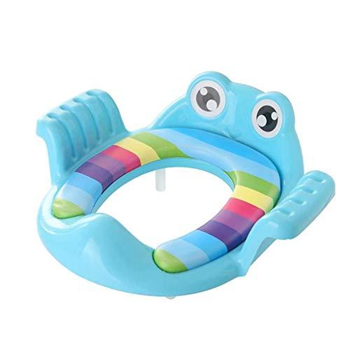Xinxinchaoshi Toilette pour Bébés Toilette de Voyage portative Toilette Enfant Siège portatif Chaise de Bain pour Enfants Siège de Formation pour Coussin d'urinoir WC pour Enfants (Color : Blue)