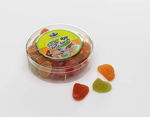 Fruta Artesana La Asturiana - Caramelos Blandos Gourmet Elaborados con Zumo Natural de Frutas en Caja Bombonera de 190 gr. Perfecta para Regalar