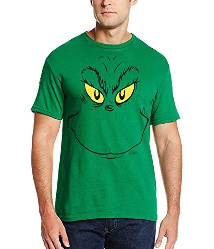 Dr. Suess Grinch Face T-Shirt-X-Large