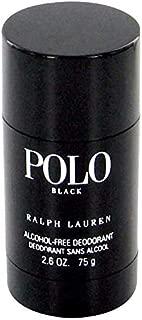 Ralph Lauren Polo Black Deodorant Stick for Men, 2.6 oz, Single
