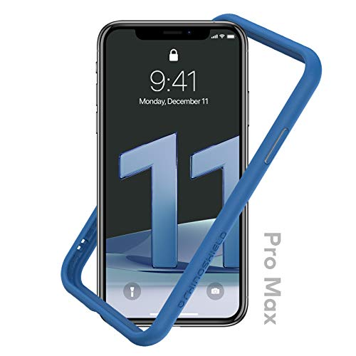 RhinoShield Bumper Case compatible with [iPhone 11 Pro Max] | CrashGuard NX - Shock Absorbent Slim Design Protective Cover 3.5M / 11ft Drop Protection - Royal Blue