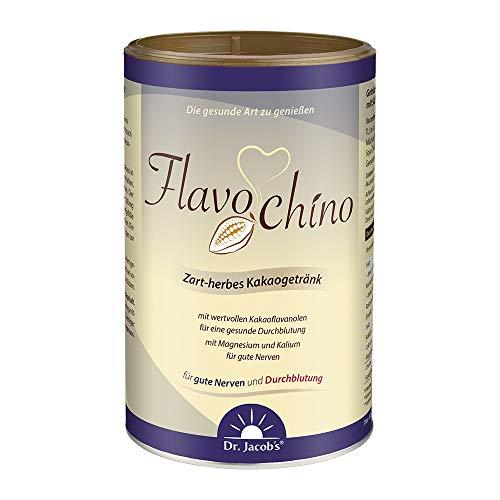 Dr. Jacob's Flavochino 450 g Dose I zart-herbes Kakaogetränk I mit Kakaoflavanolen für eine gesunde Durchblutung I mit Mineralstoffen für gute Nerven und normalen Blutdruck I ohne Zuckerzusatz