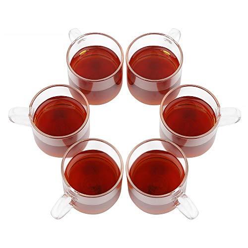 BESTOO - 6 Tazas de Vidrio para té, Taza de café, 120...