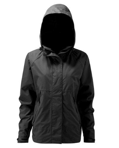 HydraPor HPLCJ grote Davaar dames weerbestendige jas met afneembare kap - zwart