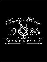【ニューヨーク ブルックリン ロゴ】 ポストカード・はがき(黒背景)
