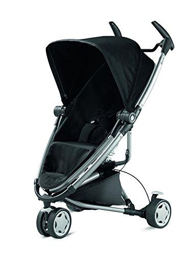 Quinny Zapp Xtra 2 Buggy mit viel Zubehör - sehr klein zusammenfaltbar, leicht und komfortabel, schwarz [Auslaufmodell]