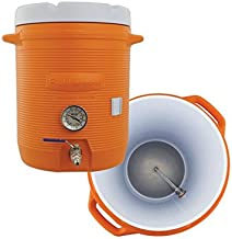 10 Gallon Cooler Mash Tun w/Thermometer