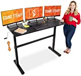 Stand Steady Tranzendesk 55 Inch Standing Desk | New & Improved! | Height Adjustable Sit to Stand Workstation...