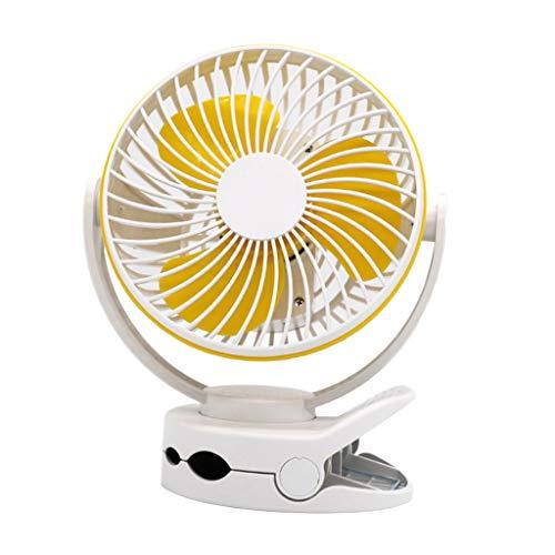 MERIGLARE Ventilador con Clip Ventilador de Escritorio USB Ajustable de 4 Engranajes con Cubierta Densa de Luz LED Oficina en Casa - Blanco