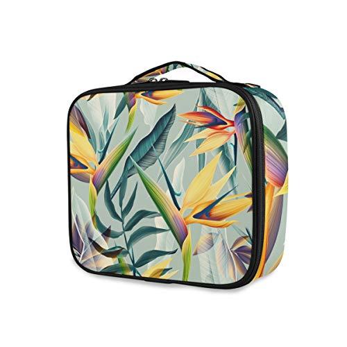Herramientas portátiles Estuche de tren cosmético Bolsa de artículos de tocador Almacenamiento Bolsa de maquillaje Planta natural Flor tropical Viaje Damas