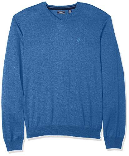 IZOD Men's Slim Fit Premium Essentials Solid V-Neck 12 Gauge Sweater, federal b, XX-Large