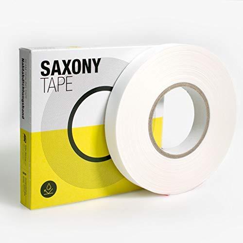 Nahtabdichtungsband, Dicke: 0,32 mm, weiche Stoffoberseite, Weiß, Seam Sealing Tape zur zuverl. Abdichtg. v. Textilien mit hoher Belastung (Funktionsnähte). Schmelzkleberübertrag. (50m x 22mm)