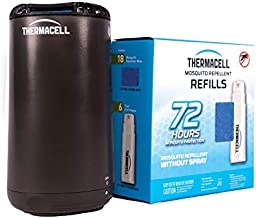 Mosquito Repellent by Thermacell; Patio Shield Mosquito Repeller and 72 Hour Refill Bundle Pack; 84 Hours of DEET-Free Insect Repellent; Scent-Free, No Spray and Cordless; 15 Ft Zone of Protection