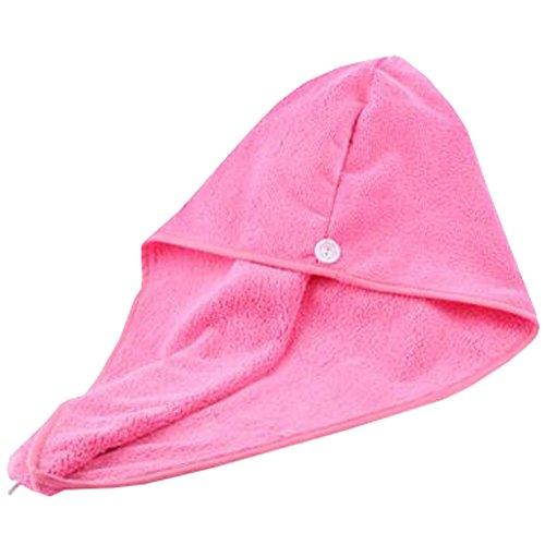 Trockenes Haar Cap Duschhaube Female trockenes Haar-Tuch Rosa