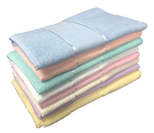 Handtuch-Set Frottee-AZ05Aida Kreuzstich 1+ 1Gesicht Und Gästehandtuch–hellblau
