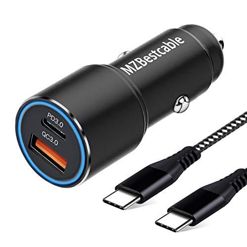 Cargador Coche USB Tipo C PD&QC 3.0 para Samsung S21 S10 S20 Plus Ultra S9,A71 A70 A51 A50 A80 A41 A31,Note 20 10,XIaomi Redmi Note 9 Pro 8 8T,Mi 10 11 10T,Huawei P30 Lite+1M C to C Cable,Carga Rapida
