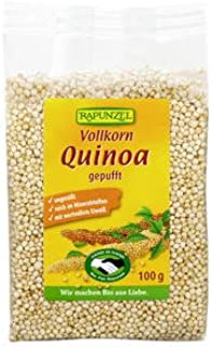 Rapunzel Bio Vollkorn Quinoa, gepufft - 4er Pack 4 x 100g - BIO