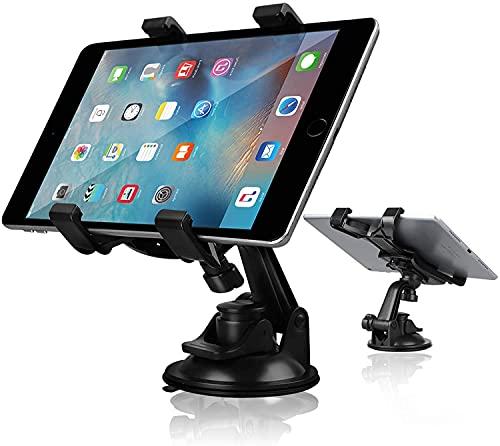 Soporte Móvil Coche, Soporte Tablet iPad Automóvil, Parabrisas Tablero Soporte Teléfono Automóvil Rotación de 360 °, Soporte Tableta con Ventosa para Samsung Galaxy Tab/iPad Mini Air 4 (4.7'-10.5')