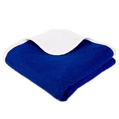 SYB Couverture Bébé - Flanelle Coton - à Bouclier Contre Les radiations EMF (Bleu Marin)