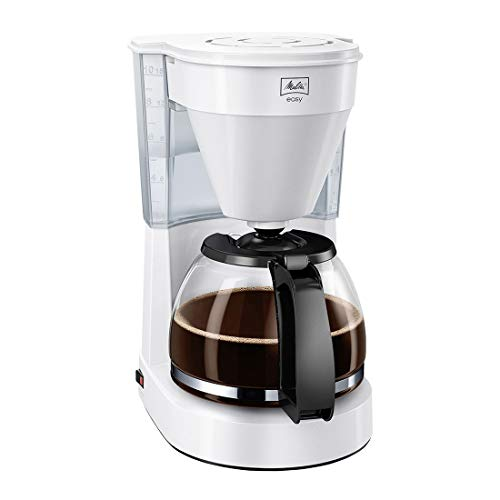 Melitta Easy 1023-02, Filterkaffeemaschine mit Glaskanne, Kompaktes Design, weiß