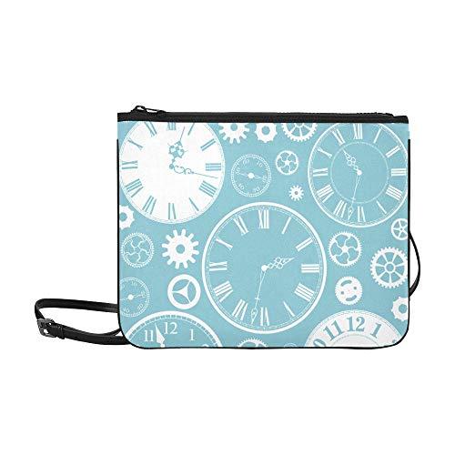 Bolso de hombro lindo Moda creativa Reloj casero lindo Correa de hombro ajustable Bolso cruzado divertido para mujeres Niñas Bolso cruzado divertido Bolso cruzado de niña