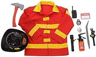 Kangaroo's Role Play Firefighter Costume & Fireman Toys Kit (11 Pc)