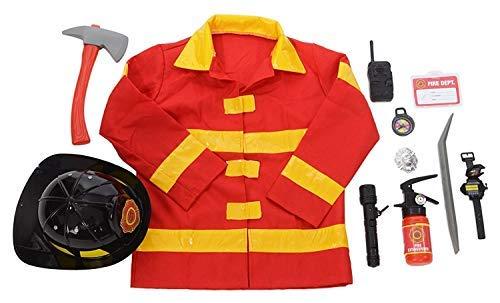 Kangaroos Role Play Firefighter Costume & Fireman Toys Kit (11 Pc)