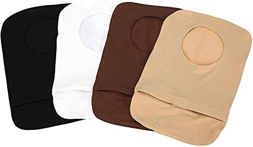 4Pcs Stretchy Colostomy Bag Cover Lightweight Ostomy Pouch with Round Opening