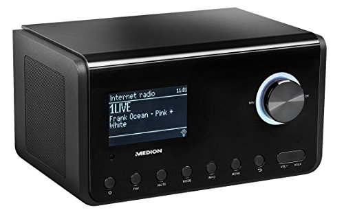 MEDION P85105 WLAN Internet-Radio, DAB+, UKW, WLAN, DLNA, UPNP, 2 x 10W RMS, USB-Anschluss, schwarz