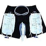 LXHL Incontinence Pants for Men with Collection Urine Bag Portable Leak Proof Leg Pee Catheter Holder for Elder(Size L)