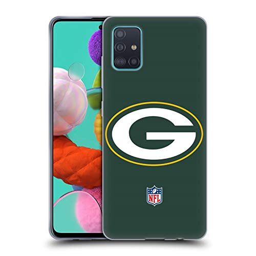 Head Case Designs Ufficiale NFL Semplice Green bay Packers Logo Cover in Morbido Gel Compatibile con Samsung Galaxy A51 (2019)