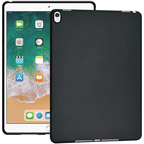 Verco Hülle für iPad Pro 10.5 (2017), Schutzhülle Tablet Tasche Silikon Cover [Modell: A1701 / A1709], Schwarz