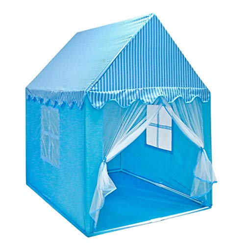 Tents Indoor House For Children's Room Decorative Girl's Sleeping Boy's Play 110 * 140 * 150CM (Color : Blue, Size : 110 * 140 * 150CM)