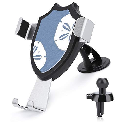 Soporte de ventilación para coche con manos libres, color azul mezclilla y dólares de arena, náutico, compatible con iPhone 12/12 Pro/11 Pro Max/8 Plus y más teléfonos móviles de 4 a 6 pulgadas