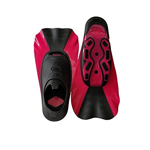 Aletas de Buceo Aletas Cortas para niños Snorkeling Natación de Buceo Entrenamiento Portátil Portátil Zapatos de Rana Corta Natación Aletas de natación Transiner (Color : Blue, Size : XXS)