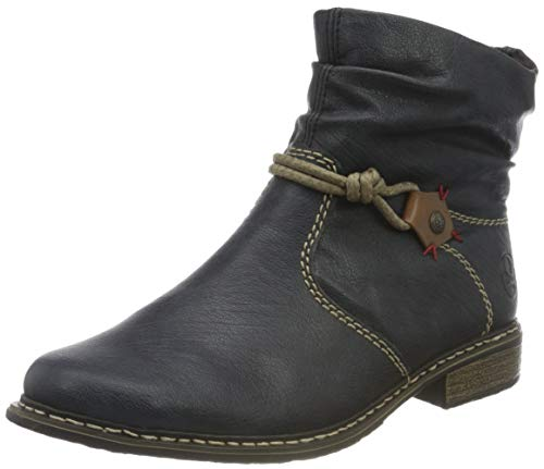 Rieker Damen Z4971 Mode-Stiefel, blau, 39 EU