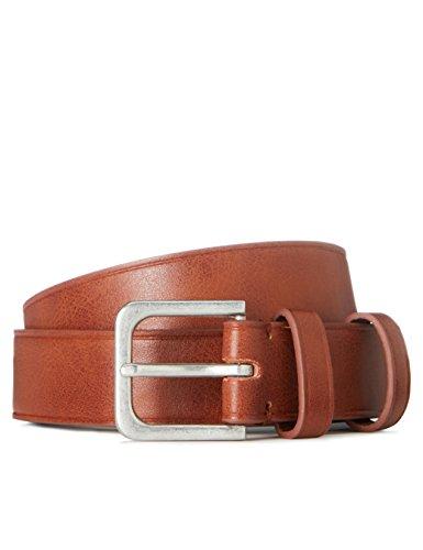 Marca Amazon - find. Cinturón Clásico para Hombre, Marrón (Tan), M, Label: M