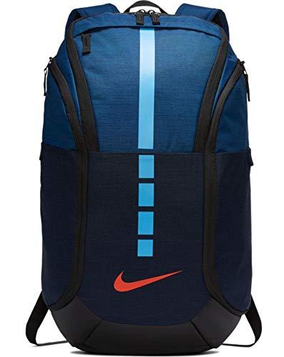 Nike Unisex Hoops Elite Pro Basketball Backpack BA5554-407 Coasal Blue/Obsidian/Team Orange