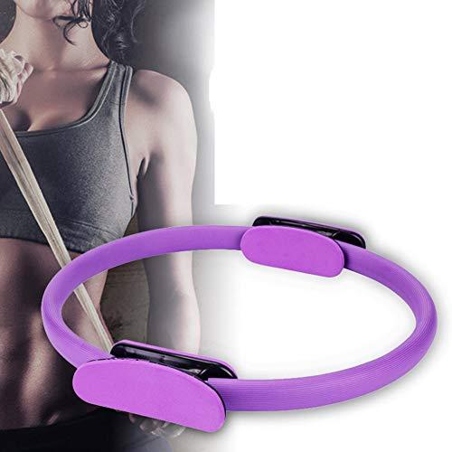 zhuangyulin6 Círculos Profesionales de Yoga, Anillo de Pilates con asa, Anillo de Doble asa de Pilates, círculo de Ejercicio mágico de Doble Agarre, aro de Yoga para Mujer, púrpura