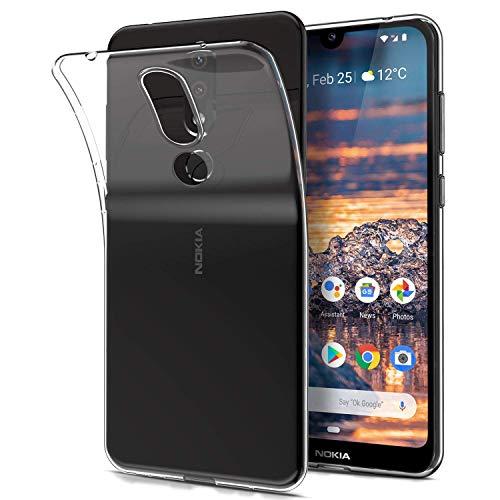 AINOYA Cover Nokia 4.2, Custodia Case Ultra Leggera e Chiaro Protettiva in Silicone Resistente ai Graffi Custodia alla Copertura in Gomma TPU per Nokia 4.2 -Crystal Clear