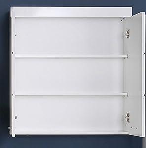 trendteam smart living Badezimmer Hängeschrank Wandschrank Amanda, 73 x 77 x 23 cm in Weiß Hochglanz mit viel Stauraum