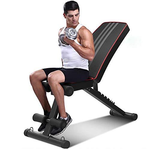 QXF-DJSY Multifunktions-Hantelbank Männer und Frauen Home Sit-ups Rückenbrett Fitnessgeräte Home Fitness Stuhl Faltbar in Eine Kompakte Größe, Wenn Nicht Verwendet MSMS