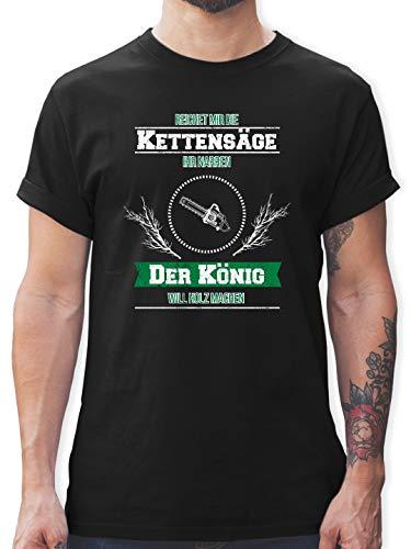 Statement - Reichet Mir die Kettensäge - M - Schwarz - reichet Mir die kettensäge - L190 - Tshirt Herren und Männer T-Shirts