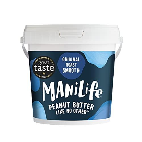 ManiLife Burro di Arachidi – Peanut Butter - Completamente Naturale, Monorigine, Senza Zuccheri Aggiunti e Senza Olio di Palma – Original Vellutato (1 x 1kg)