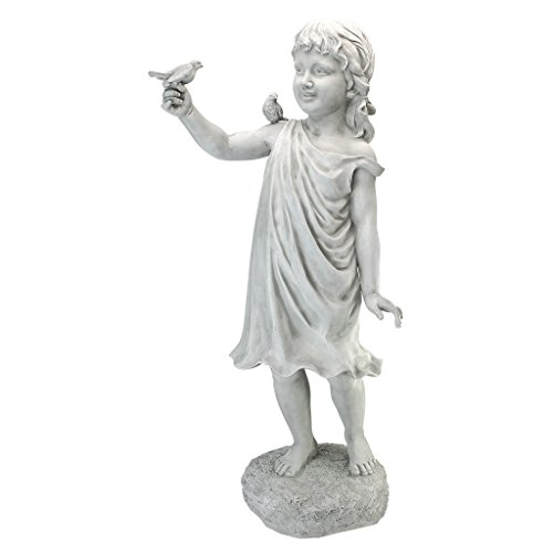Design Toscano Mary Frances and Her Feathered Friends Garden Girl Statue
