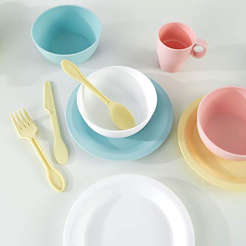 KidKraft 63027 27-teiliges Küchen-Spielset Spielzeug-Geschirrset, Pastellfarben - 4