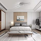 OTREN Lámpara Led Techo Moderno, Plafon Led Techo con Diseño Curvo, Luz LED con 3 Lámpara Placas para Sala de Estar Dormitorios Pasillo Oficina Cocina, 6000K