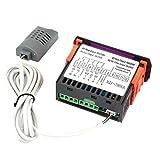 Controlador de temperatura, controlador automático de termostato pequeño, cámara climática con pantalla LED para control de temperatura y humedad del almacén de la incubadora